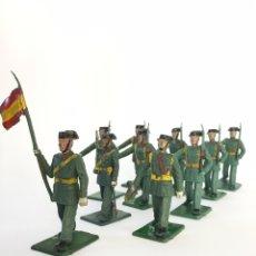 Figuras de Goma y PVC: LOTE DE 10 SOLDADOS DESFILE GUARDIA CIVIL, REALIZADOS EN GOMA DE REAMSA, GOMARSA. Lote 167511785