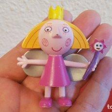 Figuras de Goma y PVC: FIGURA PLASTICO PVC MUÑECA BEN Y HOLLY SERIA TV DIBUJOS COMANSI PRIMCESA HADA. Lote 167550872
