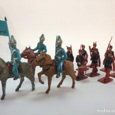 Figuras de Goma y PVC: 11 SOLDADOS DESFILE MILITAR GUARDIA REAL - REAMSA. Lote 167553258