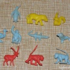 Figuras de Goma y PVC: FIGURAS ANIMALES ESTILO DUNKIN. Lote 167575304