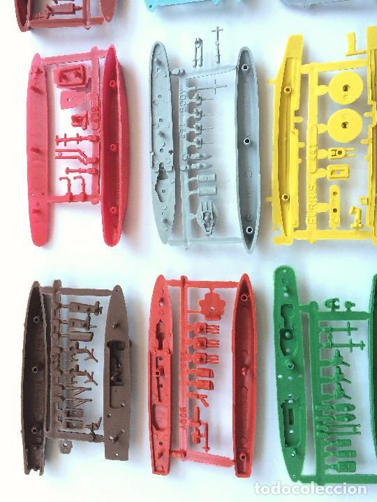 Figuras de Goma y PVC: MONTAPLEX LOTE 12 COLADAS BARCOS BUQUES DE GUERRA - COLECCIÓN COMPLETA - Foto 4 - 182837292