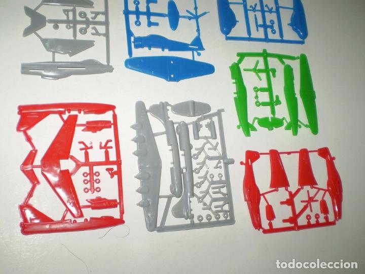 Figuras de Goma y PVC: BIMBO DUNKIN PREMIUM - LOTE DE 7 AVIONES - SIMILARES MONTAPLEX - Foto 2 - 167710212