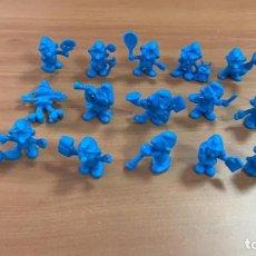 Figuras de Goma y PVC: DUNKIN SERIE PITUFOS AÑOS 80 - COLECCION COMPLETA LOTE DE 16 FIGURAS DIFERENTES DE LOS PITUFOS. Lote 167716500