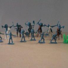 Figuras de Goma y PVC: MINI OESTE COMANSI - INDIOS Y CACTUS - 19 PIEZAS. Lote 167794202