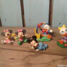 Figuras de Goma y PVC: FIGURAS BEBE MICKEY, MINNIE, DONALDS, BULLY. Lote 167881494
