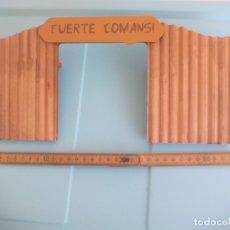 Figuras de Goma y PVC: COMANSI PIEZA DEL FUERTE DEL OESTE DE MADERA. Lote 167962352