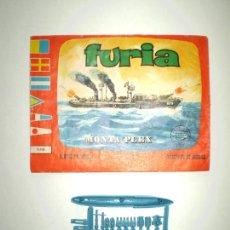 Figuras de Goma y PVC: LOTE MONTAPLEX - BUQUE DE GUERRA FURIA Nº436 - SOBRE VACÍO + COLADA DEL FURIA. Lote 168050644
