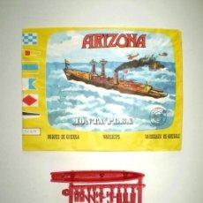 Figuras de Goma y PVC: SOBRE MONTAPLEX Nº 438 ARIZONA - VACÍO + COLADA DEL BARCO ARIZONA. Lote 238857565