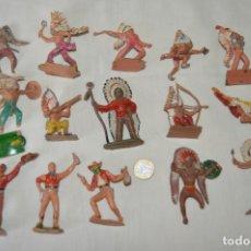 Figuras de Goma y PVC: OESTE AMERICANO - INDIOS, VAQUEROS - PLÁSTICO/PVC - COMANSI, OLIVER, PUIG, PECH, JECSAN ... ¡MIRA!. Lote 168151673