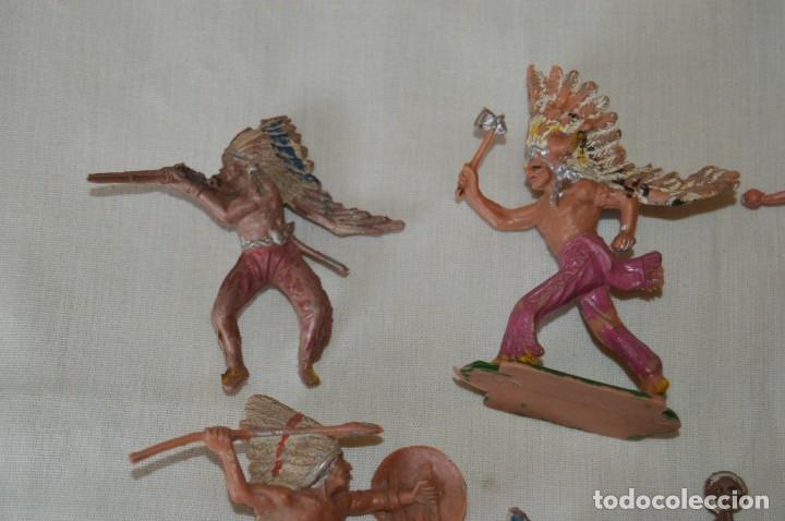 Figuras de Goma y PVC: OESTE AMERICANO - INDIOS, VAQUEROS - Plástico/PVC - COMANSI, OLIVER, PUIG, PECH, JECSAN ... ¡Mira! - Foto 2 - 168151673