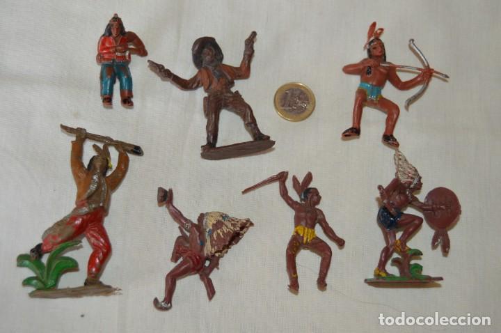 LOTE DE OESTE - INDIOS, VAQUEROS - PLÁSTICO/PVC - COMANSI, OLIVER, PUIG, PECH, JECSAN ... ¡MIRA! (Juguetes - Figuras de Goma y Pvc - Otras)