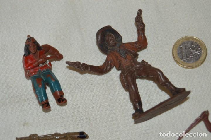 Figuras de Goma y PVC: Lote de OESTE - INDIOS, VAQUEROS - Plástico/PVC - COMANSI, OLIVER, PUIG, PECH, JECSAN ... ¡Mira! - Foto 2 - 168157408