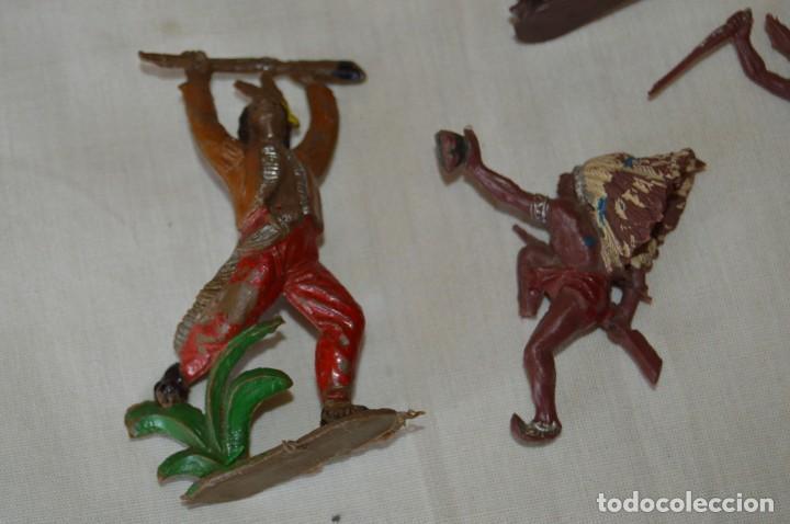 Figuras de Goma y PVC: Lote de OESTE - INDIOS, VAQUEROS - Plástico/PVC - COMANSI, OLIVER, PUIG, PECH, JECSAN ... ¡Mira! - Foto 3 - 168157408