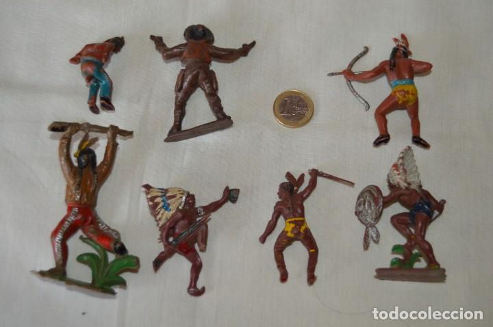 Figuras de Goma y PVC: Lote de OESTE - INDIOS, VAQUEROS - Plástico/PVC - COMANSI, OLIVER, PUIG, PECH, JECSAN ... ¡Mira! - Foto 6 - 168157408