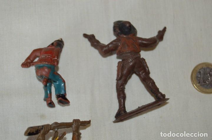 Figuras de Goma y PVC: Lote de OESTE - INDIOS, VAQUEROS - Plástico/PVC - COMANSI, OLIVER, PUIG, PECH, JECSAN ... ¡Mira! - Foto 7 - 168157408