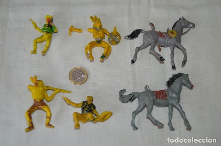 LOTE DE OESTE - INDIOS, VAQUEROS Y CABALLOS, PLÁSTICO/PVC - COMANSI, OLIVER, PUIG, PECH, JECSAN ... (Juguetes - Figuras de Goma y Pvc - Otras)