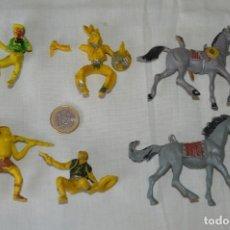 Figuras de Goma y PVC: LOTE DE OESTE - INDIOS, VAQUEROS Y CABALLOS, PLÁSTICO/PVC - COMANSI, OLIVER, PUIG, PECH, JECSAN ... . Lote 168160188