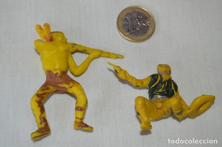 Figuras de Goma y PVC: Lote de OESTE - INDIOS, VAQUEROS y CABALLOS, Plástico/PVC - COMANSI, OLIVER, PUIG, PECH, JECSAN ... - Foto 3 - 168160188