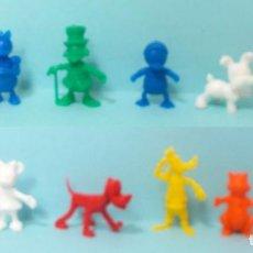 Figuras de Goma y PVC: FIGURAS CAJA MÁGICA DE DISNEY, DUNKIN, PUBLICIDAD DANONE. 12 PERSONAJES, COMPLETA. BUEN ESTADO. Lote 168254460