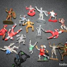 Figuras de Goma y PVC: LOTE FIGURAS PLÁSTICO CABALLEROS MEDIEVALES VARIAS MARCAS. Lote 168281972