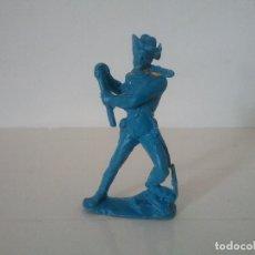 Figuras de Goma y PVC: PECH HERMANOS. OESTE SOLDADO DE CABALLERIA NORDISTA YANKEE MONOCOLOR 7,5 CM ORIGINAL AÑOS 60. PTOY. Lote 153703482