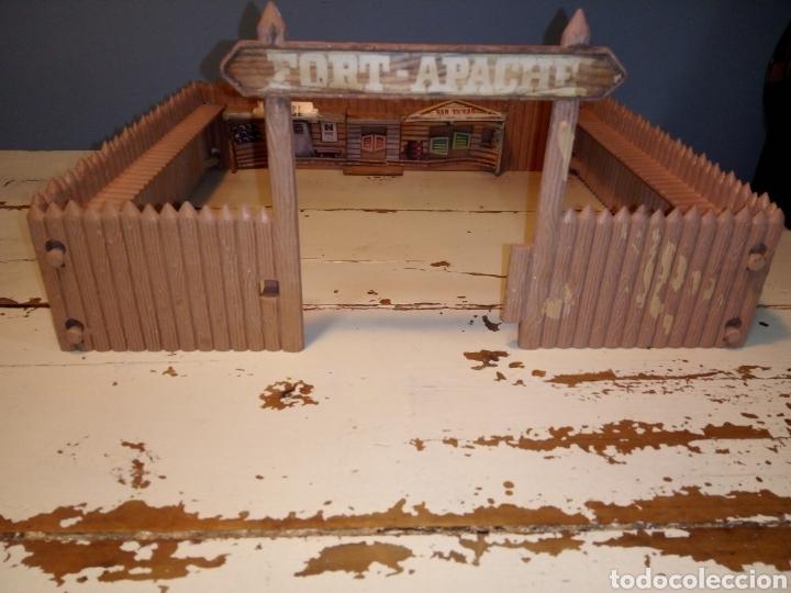 Figuras de Goma y PVC: Fuerte (fort apache), vaqueros a pie y a caballo ¿comansi?(años 70) - Foto 19 - 168286488