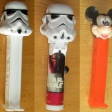 Dispensador Pez: PEZ 7 DISPENSADORES, DARTH VADER, R2-D2, 2 SOLDADOS MIKEY, SILVESTRE,BART SIMPSON. Lote 168340052