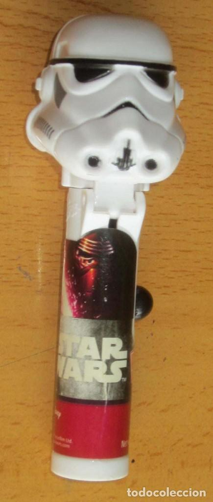 Dispensador Pez: PEZ 7 DISPENSADORES, DARTH VADER, R2-D2, 2 SOLDADOS MIKEY, SILVESTRE,BART SIMPSON - Foto 27 - 168340052