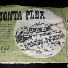 Figuras de Goma y PVC: TANQUE PESADO M-43, SOBRE *PEQUEÑO* MONTAPLEX MONTA-PLEX, NUNCA ABIERTO, AÑOS 60.. Lote 168396600