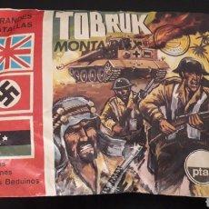 Figuras de Goma y PVC: TOBRUK REF. 129, SOBRE MONTAPLEX MONTA-PLEX GRANDES BATALLAS INGLESES ALEMANES ARABES, AÑOS 60-70.. Lote 168402020