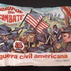 Figuras de Goma y PVC: GUERRA CIVIL AMERICANA, SOBRE MONTAPLEX MONTA-PLEX, GRUPOS DE COMBATE DEL NORTE, AÑOS 60-70.. Lote 168402648