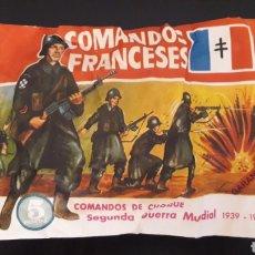 Figuras de Goma y PVC: COMANDOS FRANCESES, SOBRE MONTAPLEX MONTA-PLEX, 2ª SEGUNDA GUERRA MUNDIAL, AÑOS 60-70.. Lote 168402724