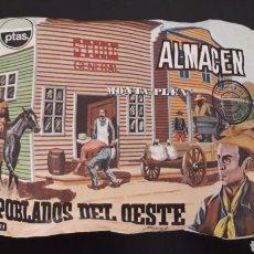 Figuras de Goma y PVC: ALMACÉN GENERAL STORE REF. 455, SOBRE MONTAPLEX MONTA-PLEX, POBLADOS DEL OESTE, AÑOS 60-70.. Lote 168403200