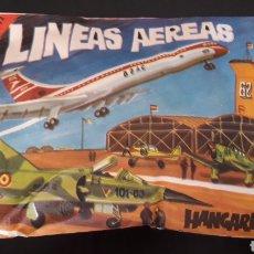 Figuras de Goma y PVC: LINEAS AEREAS BOAC HANGARES, SOBRE MONTAPLEX MONTA-PLEX, AÑOS 60-70.. Lote 168403300