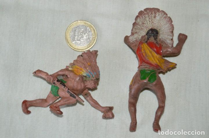 Figuras de Goma y PVC: De GOMA - GUERRERO INDIO REALIZADO POR PECH y otro sin datos - Años 50/60 ¡Mira fotos/detalles! - Foto 4 - 168440188