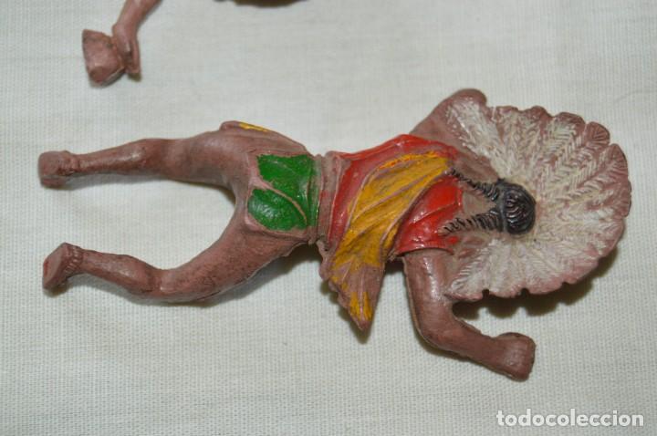 Figuras de Goma y PVC: De GOMA - GUERRERO INDIO REALIZADO POR PECH y otro sin datos - Años 50/60 ¡Mira fotos/detalles! - Foto 6 - 168440188