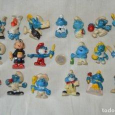 Figuras de Goma y PVC: VINTAGE - LOS PITUFOS Y GARGAMEL - LOTE DE 19 FIGURAS VARIADAS DE GOMA - .. ¡MIRA FOTOS Y DETALLES!. Lote 168448288