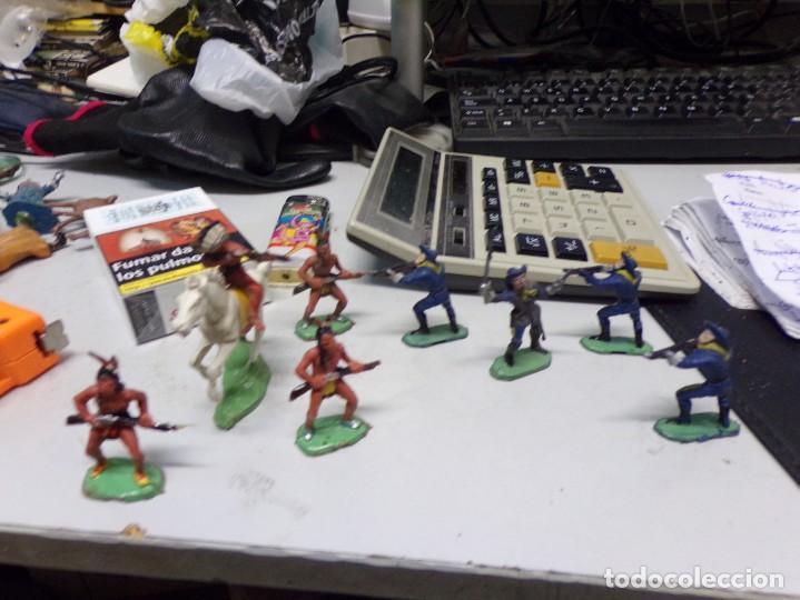 LOTE JECSAN REAMSA COMANSI INDIO CABALLO SOLDADO 9 FIGURAS TOTAL BUEN ESTADO (Juguetes - Figuras de Goma y Pvc - Jecsan)