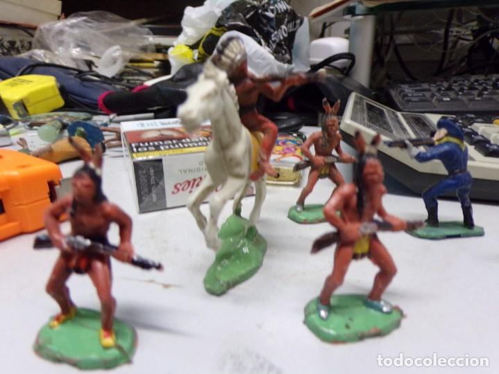 Figuras de Goma y PVC: lote jecsan reamsa comansi indio caballo soldado 9 figuras total buen estado - Foto 2 - 168493380