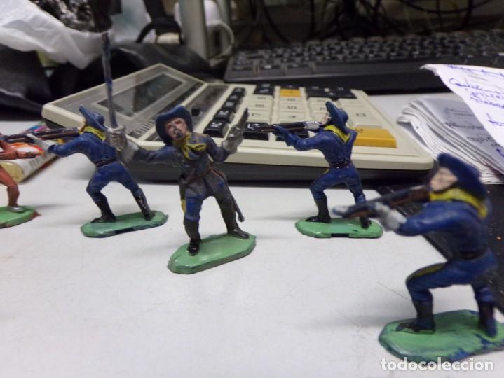 Figuras de Goma y PVC: lote jecsan reamsa comansi indio caballo soldado 9 figuras total buen estado - Foto 3 - 168493380