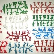 Figuras de Goma y PVC: LOTE DE 10 COLADAS DE SOLDADOS MONTAPLEX - 125 FIGURAS EN TOTAL - A ESTRENAR. Lote 177292607