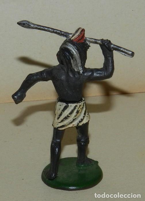 Figuras de Goma y PVC: GAMA, GUERRERO NEGRO, EN GOMA DOS PIEZAS, SAFARI, LANZA, AÑOS 50, SERIE 6 CMS. - Foto 4 - 168505052
