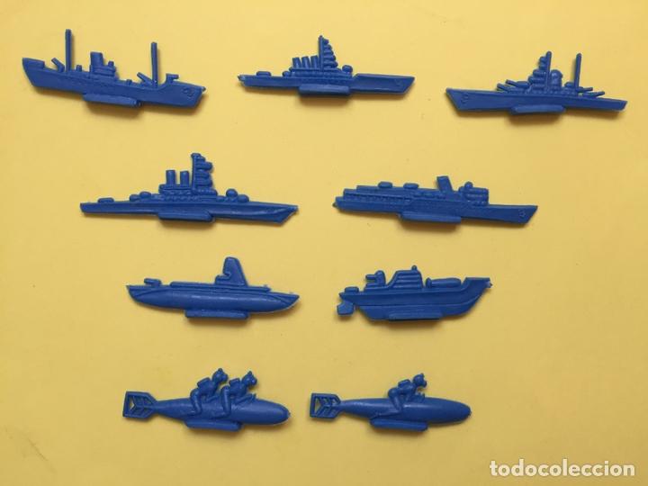 Figuras de Goma y PVC: Lote 9 BARCOS Y SUBMARINOS planos. Montaplex, Serjan... 1970's ¡COLECCIONISTA! ¡Originales! - Foto 2 - 168625844