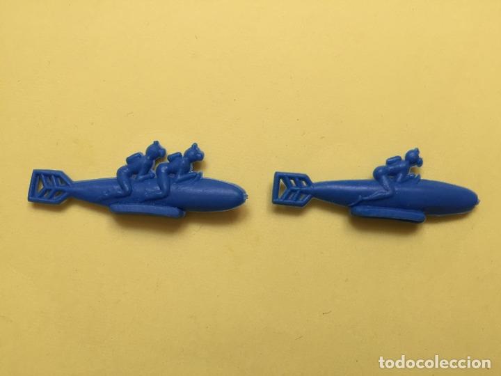 Figuras de Goma y PVC: Lote 9 BARCOS Y SUBMARINOS planos. Montaplex, Serjan... 1970's ¡COLECCIONISTA! ¡Originales! - Foto 6 - 168625844