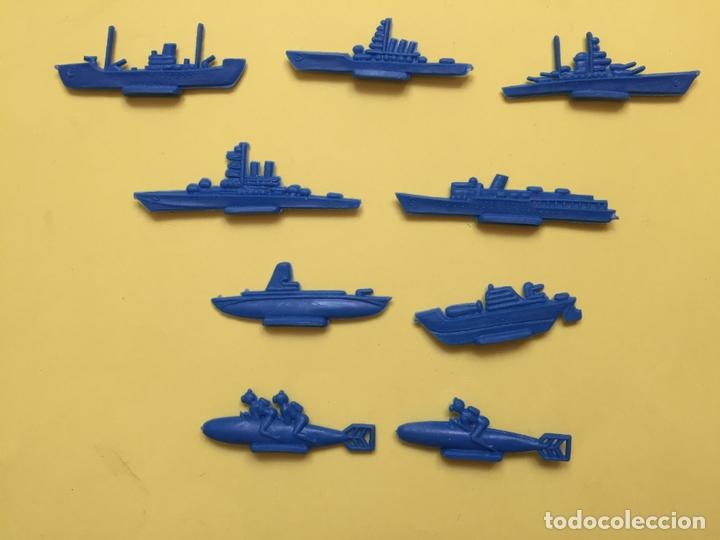 Figuras de Goma y PVC: Lote 9 BARCOS Y SUBMARINOS planos. Montaplex, Serjan... 1970's ¡COLECCIONISTA! ¡Originales! - Foto 8 - 168625844