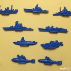 Figuras de Goma y PVC: LOTE 9 BARCOS Y SUBMARINOS PLANOS. MONTAPLEX, SERJAN... 1970'S ¡COLECCIONISTA! ¡ORIGINALES!. Lote 168625844