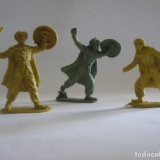 Figuras de Goma y PVC: TRES GUERREROS SARRACENOS ( 7 Y 8 CM ) AÑOS 60 - 70. Lote 124030411