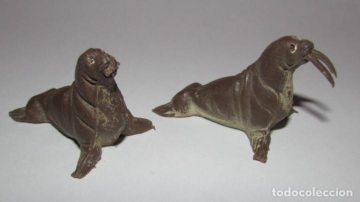 MORSA SERIE FIERAS - PECH - AÑOS 60 - DOS MORSAS (Juguetes - Figuras de Goma y Pvc - Pech)