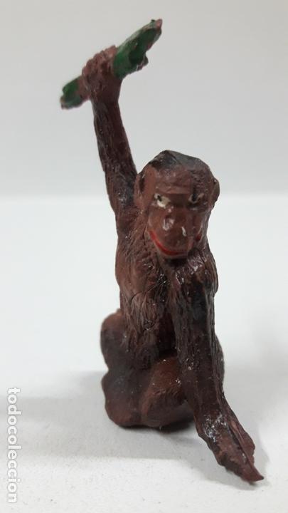 Figuras de Goma y PVC: MONO CON RAMA . REALIZADO POR GAMA . AÑOS 50 EN GOMA - Foto 3 - 168864976