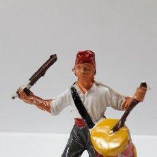Figuras de Goma y PVC: TAMBORILERO DEL BRUCH - GERRILLERO . SERIE AGUSTINA DE ARAGON . REALIZADA POR PECH . AÑOS 60. Lote 168865580